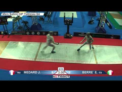 Moscow 2015 MS GP T64 25 red Berre E ITA vs Medard J FRA