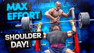MAX EFFORT SHOULDER DAY WITH MAXIME!