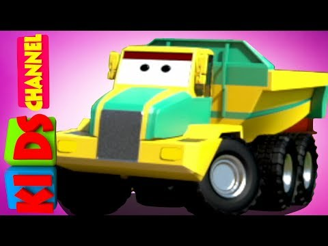 Carrier Truck   3D Vehicle For Kids   Cartoon Cars   Video For Kids