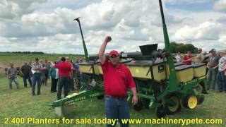 John Deere 7200 6-Row Planter Sold for $14,000 on Southeast Minnesota Farm Auction Saturday