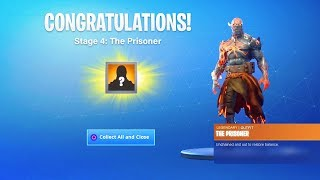 How To UNLOCK STAGE 4 The Prisoner Skin! (Fortnite)