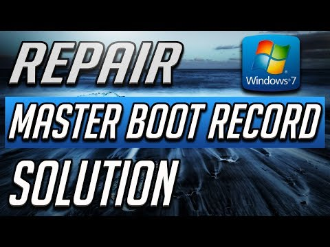 How To Repair The Master Boot Record (MBR) In Windows 7
