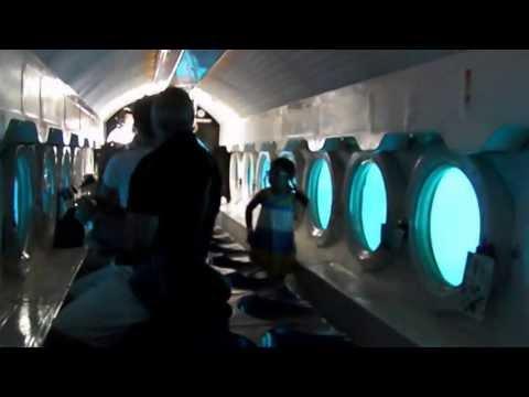 Boarding the Atlantis Submarine in Cozumel