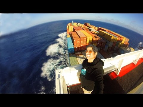 AMAZING WAY TO TRAVEL! CARGO SHIP ADVENTURE!
