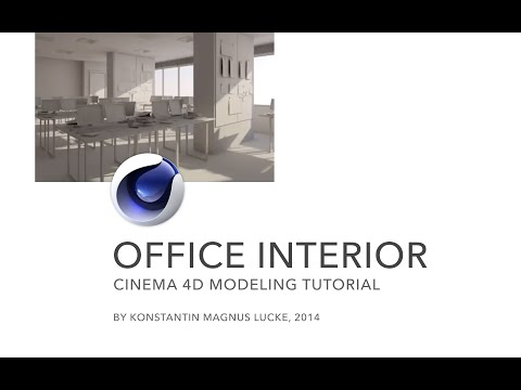 Modeling with Polygons - Office Interior Cinema 4D-Tutorial