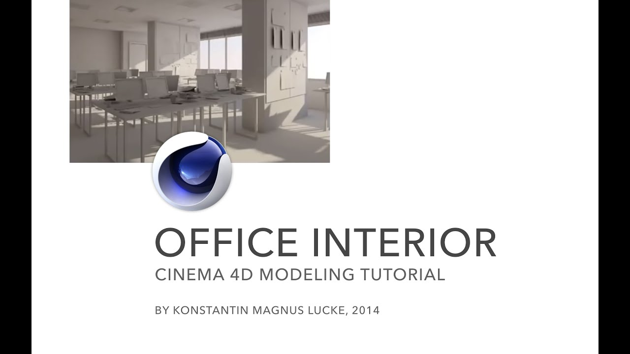 modeling with polygons office interior cinema 4d tutorial youtube. Black Bedroom Furniture Sets. Home Design Ideas