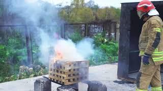 видео Вбрасываемая огнетушащая капсула