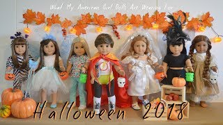 What My American Girl Dolls Are Wearing For Halloween 2018!