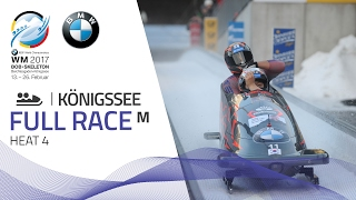 Full Race 2-Man Bobsleigh Heat 4 | KÖnigssee | BMW IBSF World Championships 2017
