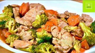Pollo con Brocoli - Rica Comida China Saludable y Fácil