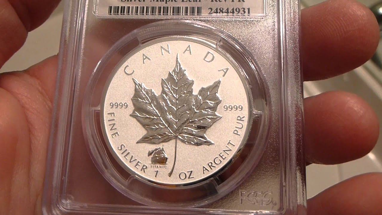 2012 Royal Canadian Mint Maple Leaf 1 Ounce Titanic Privy
