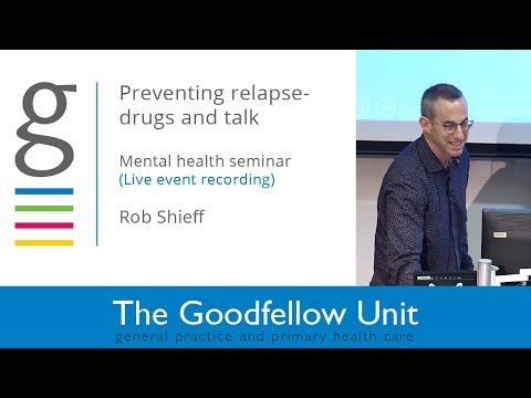 Goodfellow Unit: Mental Health Day – Reducing the Risk of Recurrent Depression