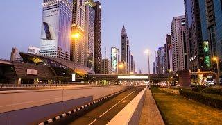Emirates Towers Metro Station - Dubai, United Arab Emirates - 4K Timelapse