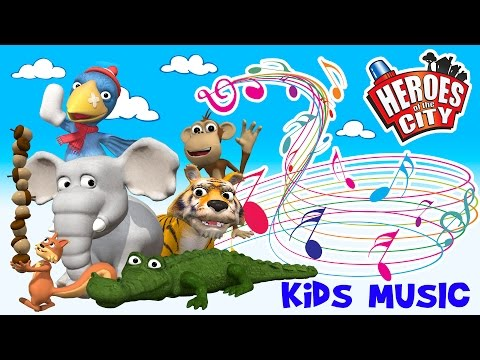 Kids Songs | The Animals at the Zoo - Heroes of the City | ♫