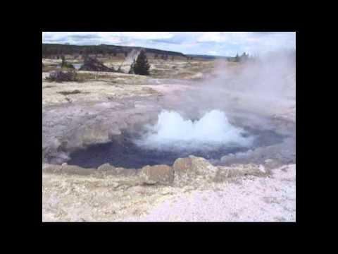 Mound Geyser Eruption-- Yellowstone's Lower Geyser Basin -- September 16, 2013