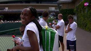 Behind the Scenes with Coco Gauff at Wimbledon 2019