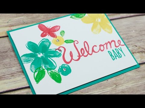 Welcome Baby Card 2 Step Simple Stamping