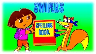 Learning English Words & Letters with Dora the explorer in Game Spelling Book