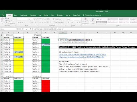 Excel Magic Trick 1448 Conditional Formatting Formulas Cell