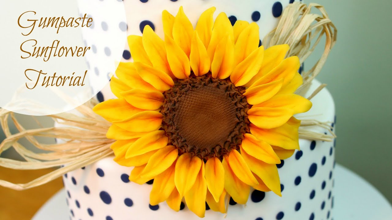 Sunflower Cutter Cake Decorating