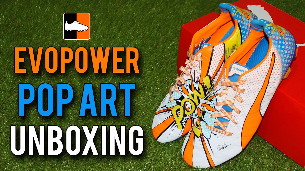 e815a04f1aaf Pop Art PUMA evoPOWER 1.2 Boots Unboxing - Cartoon Graphic Edition ...