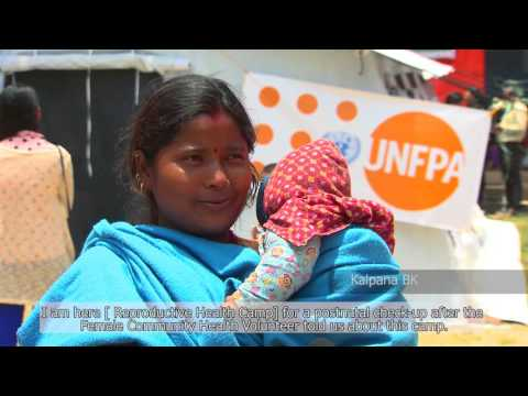 UNFPA Humanitarian response, Nepal