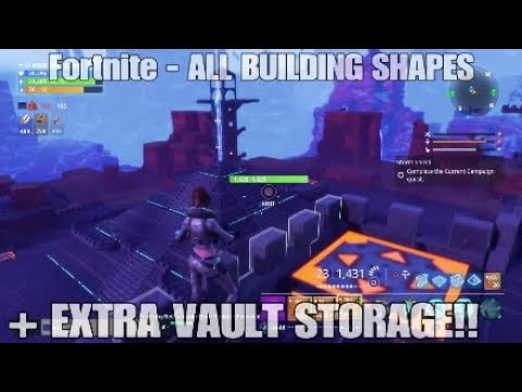 Fortnite Advanced Building Extra Vault Spaces Stw Youtube