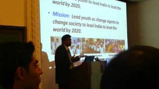 Mr. Gopinath Gopalam giving presentation about LEAD INDIA 2020 movement.