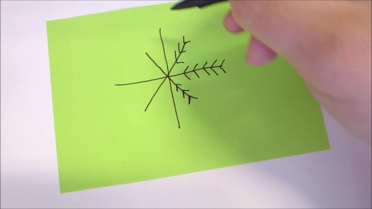 Come Disegnare Un Fiocco Di Neve In Modo Velocissimo Mammafelice
