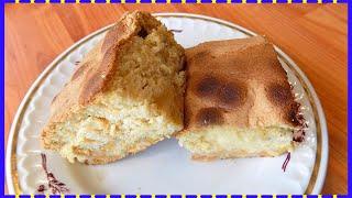 Сладкий пирог на заливном тесте с яблоками