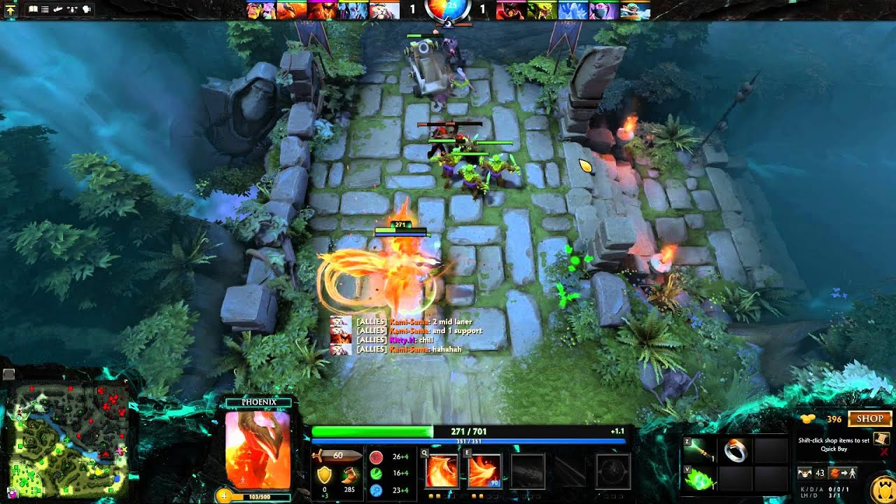 steam game dota 2 phoenix 13 kills nuker build basic guide