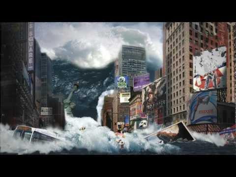 "Matte Painting // ""The Tidal Wave"" // University VFX Project"