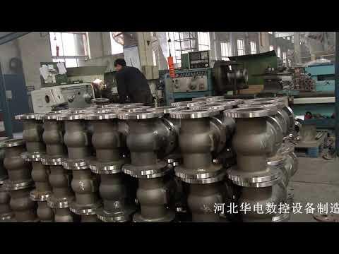 Three face milling machine on valve flange