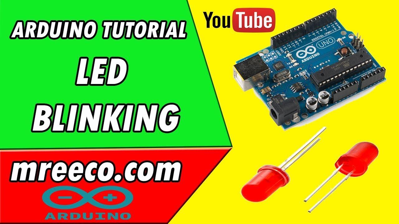 Arduino tutorial led blink youtube