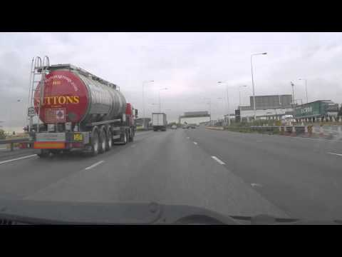 UK Motorways - M25 Dartford Crossing South J30 onto M2 eastbound