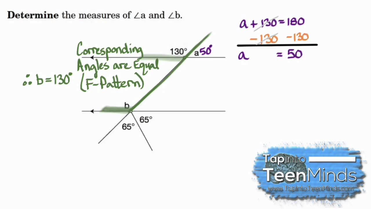 Opposite Angles and Corresponding Angles Formed By ...