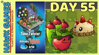 Plants vs Zombies 2 Time Twister World Day 55 [Player's Choice]