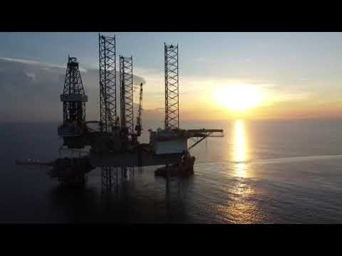 Sunset View of Rig Asian Endeavour at PHKT Offshore Field.