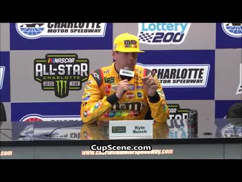 NASCAR at Charlotte Motor Speedway All-Star Weekend May 2018:  Kyle Busch pre-race