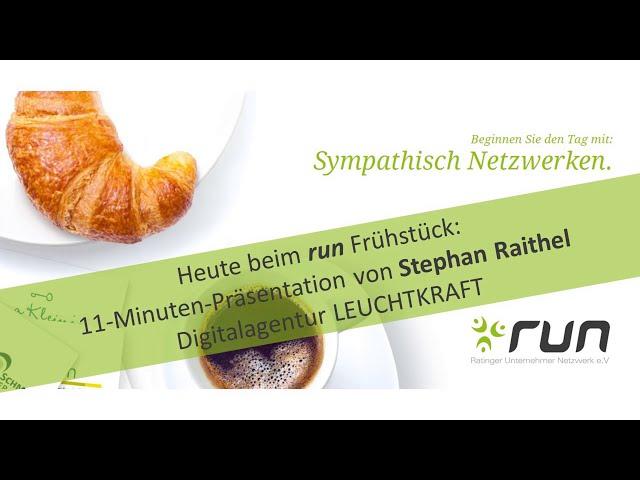 run präsentiert: Stephan Raithel von LEUCHTKRAFT zu Google Core Web Vitals