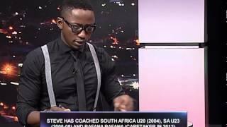 Andile Ncube, host of sport @ 10 interviewsKaizer Chiefs Coach Steve Komphela