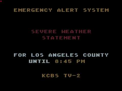 EAS: Tornado Emergency (SVS) for Los Angeles