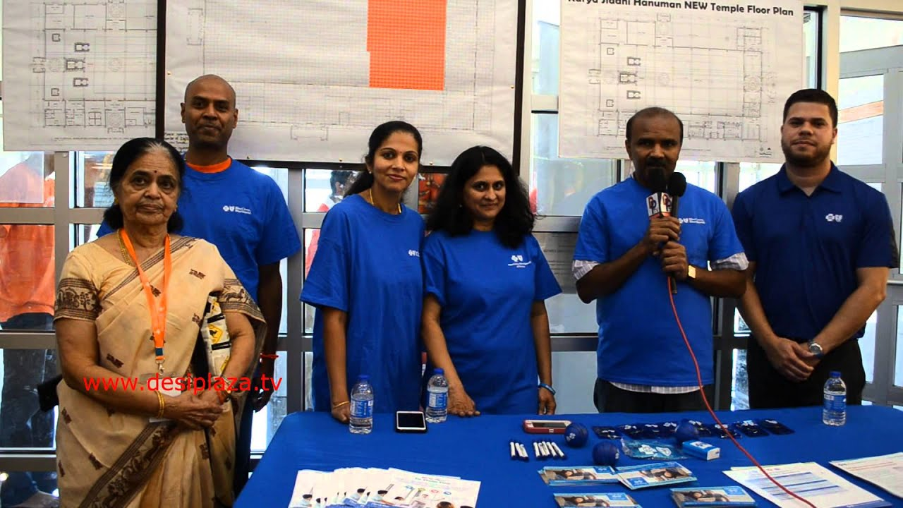 Member of Blue Cross speaking at Medical Camp at KSHT in Dallas
