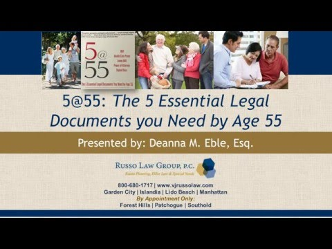WEBINAR: The 5 Essential Legal Documents you Need by Age 55