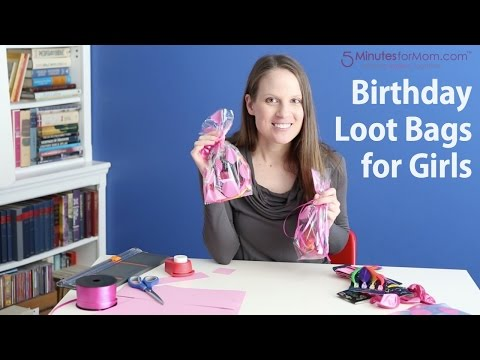 Birthday Loot Bags for Girls