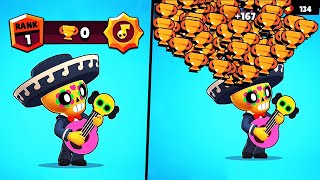 MAX POWER POCO, 0 Trophies = WIN! // BrawlStars