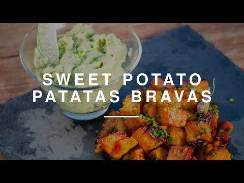 Healthy Sweet Potato Patatas Bravas w Anne-Marie | Madeleine Shaw  | Wild Dish