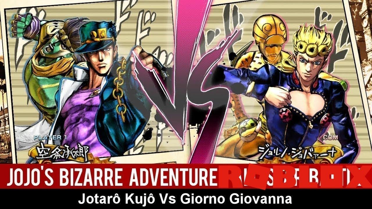 Giorno vs Jotaro but it's in Roblox