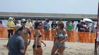 北海道福島町海峡横綱ビーチでおこなわれた「マリンフェスタ2012海峡横...