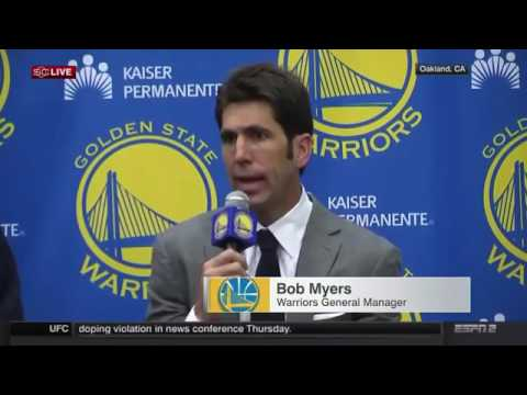 Golden State Warriors Introduce Kevin Durant Press Conference FULL